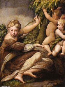 Parmigianino - Virgin and Child with an Angel
