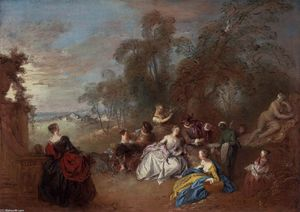Jean-Baptiste Pater - On the Terrace