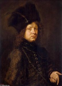 Christoph Paudiss - Portrait of a Young Man in a Fur Hat