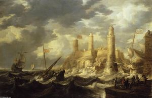 Bonaventura Peeters I - Fortified Harbour