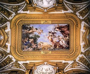 Order Famous Paintings Reproductions : Ceiling of the Hall of Venus, 1642 by Pietro Da Cortona (1596-1669, Italy) | WahooArt.com