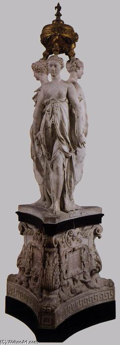Monument for the Heart of Henri II, Marble by Germain Pilon (1528-1590, France)