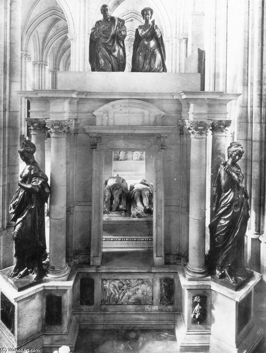 Monument to Henri II and Catherine dei Medici, Marble by Germain Pilon (1528-1590, France)