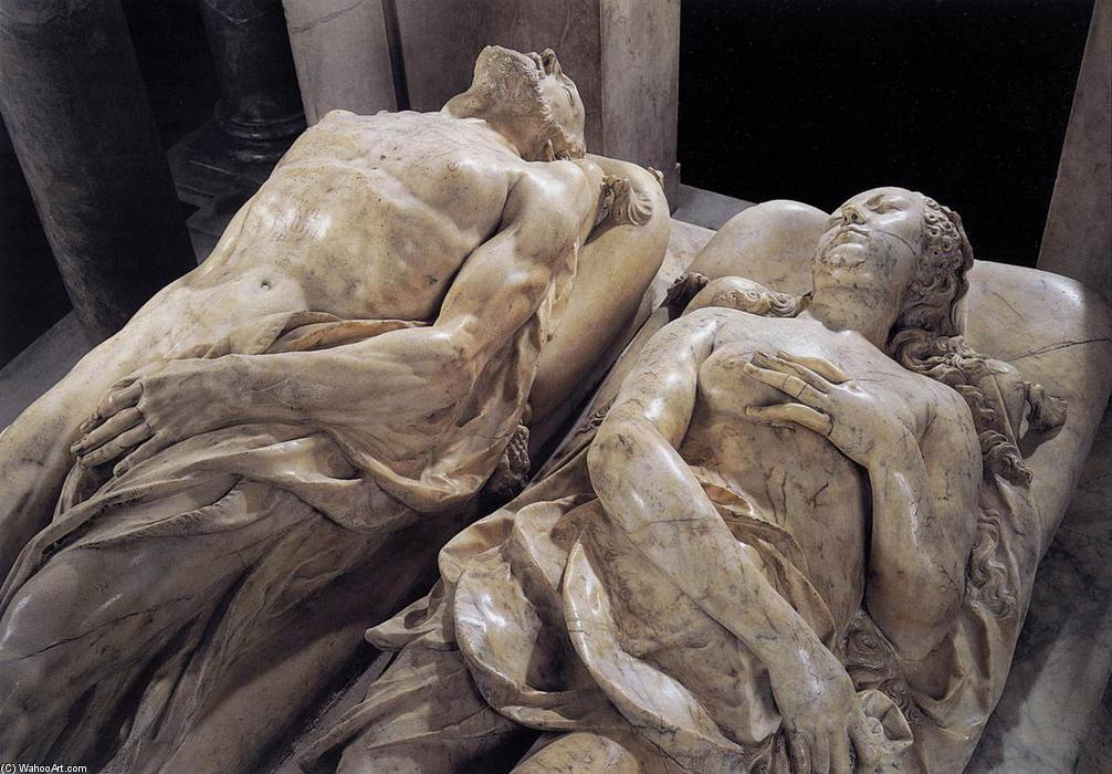 Monument to Henri II and Catherine dei Medici (detail), Marble by Germain Pilon (1528-1590, France)