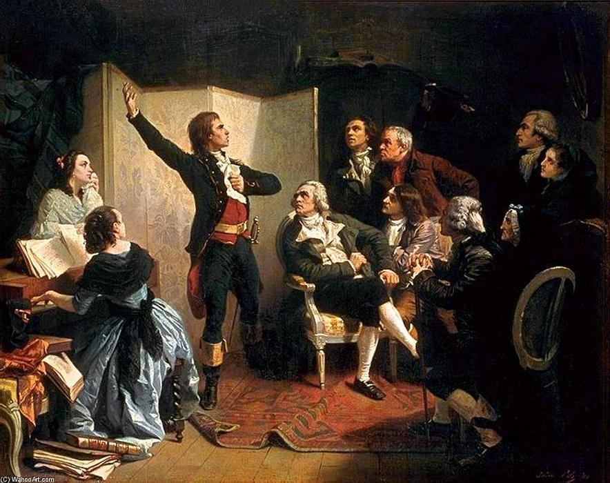 Rouget de L`Isle Singing La Marseillaise, 1849 by Isidore Alexandre Augustin Pils (1815-1875, France) | Art Reproductions Isidore Alexandre Augustin Pils | WahooArt.com