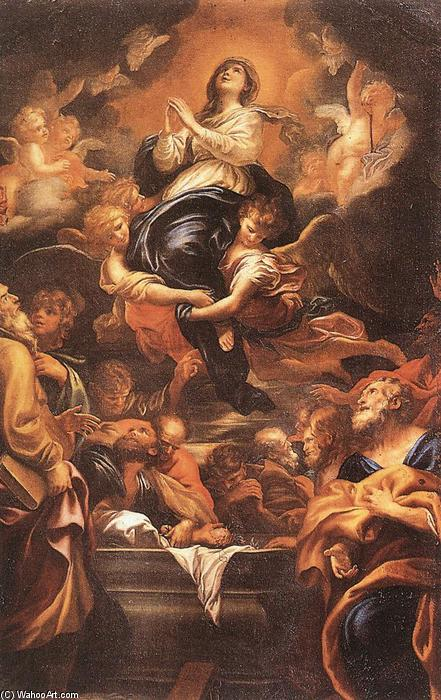 Assumption of the Virgin, 1676 by Domenico Piola (1627-1703, Italy) | Museum Quality Reproductions | WahooArt.com