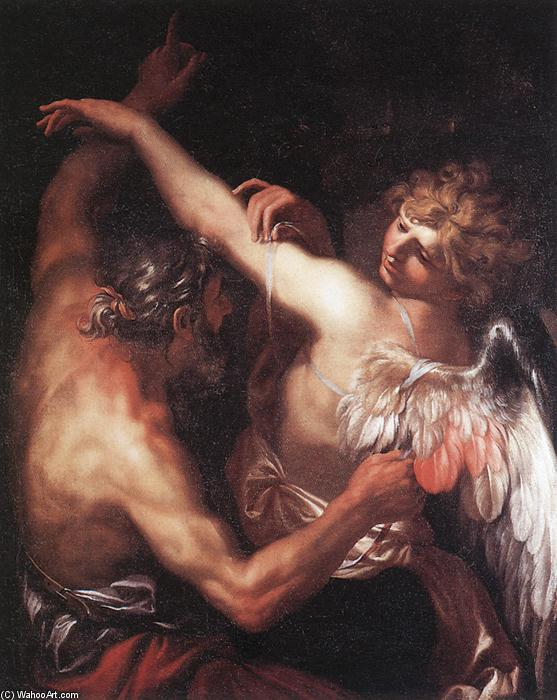 Daedalus and Icarus, 1670 by Domenico Piola (1627-1703, Italy) | Art Reproduction | WahooArt.com