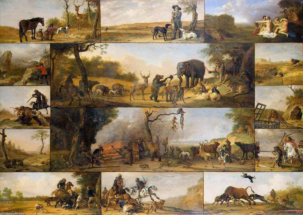 Punishment of a Hunter, Oil by Paulus Potter (1625-1654, Netherlands)