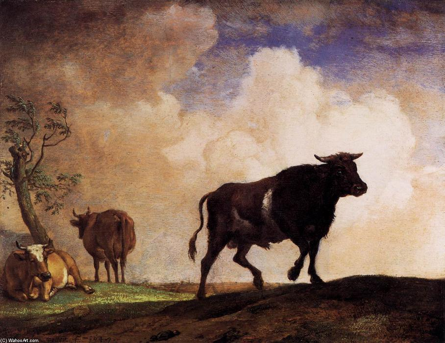 The Bull, Oil by Paulus Potter (1625-1654, Netherlands)