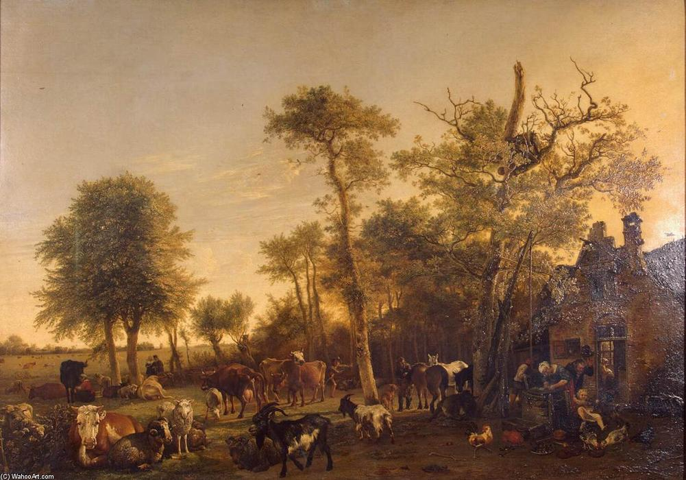 The Farm, Oil On Panel by Paulus Potter (1625-1654, Netherlands)