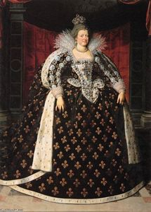Frans The Younger Pourbus - Marie de Médicis, Queen of France