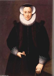 Frans The Younger Pourbus - Portrait of a Woman Aged 54