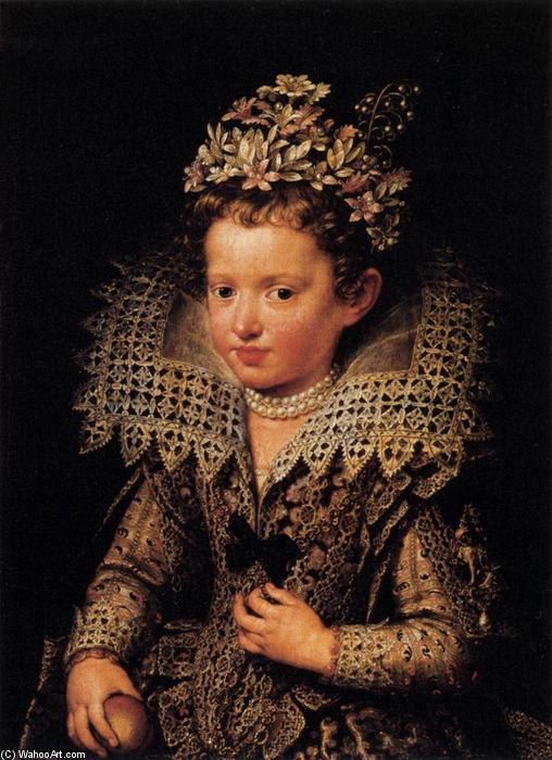 Portrait of Eleonora of Mantua as a Child, 1605 by Frans The Younger Pourbus (1569-1622, Belgium) | Museum Art Reproductions Frans The Younger Pourbus | WahooArt.com