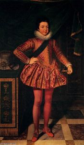 Frans The Younger Pourbus - Portrait of Louis XIII of France at Age Ten