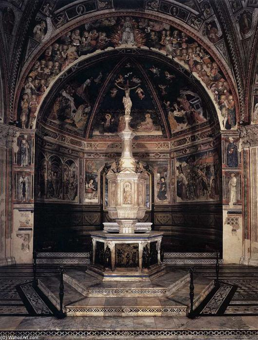 Baptismal font, 1417 by Jacopo Della Quercia (1374-1438, Italy) | Famous Paintings Reproductions | WahooArt.com