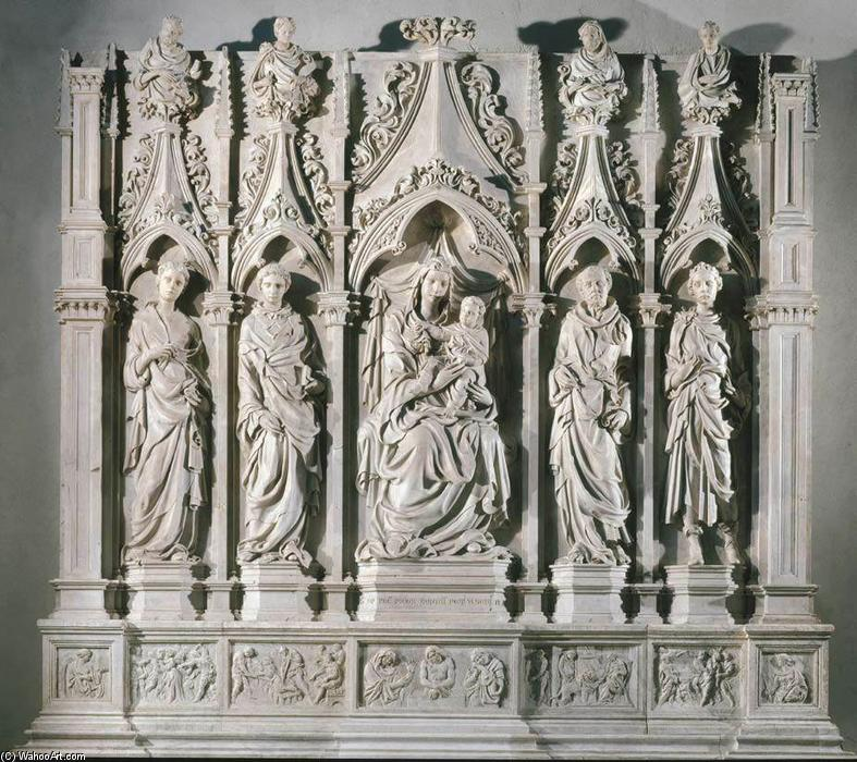 Trenta Altar, 1422 by Jacopo Della Quercia (1374-1438, Italy) | Art Reproduction | WahooArt.com
