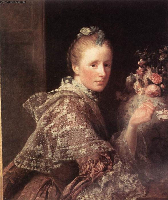 Portrait of the Artist`s Wife, 1754 by Allan Ramsay (1713-1784, Scotland) | Art Reproductions Allan Ramsay | WahooArt.com