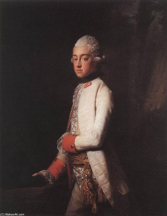 Prince George Augustus of Mecklenburg-Strelitz, 1769 by Allan Ramsay (1713-1784, Scotland) | Paintings Reproductions Allan Ramsay | WahooArt.com