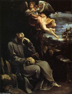 Reni Guido (Le Guide) - St Francis Consoled by Angelic Music