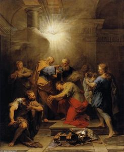 Jean Ii Restout - Ananias Restoring the Sight of St Paul