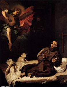 Francisco Ribalta - St Francis Comforted by an Angel