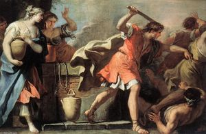 Sebastiano Ricci - Moses Defending the Daughters of Jethro