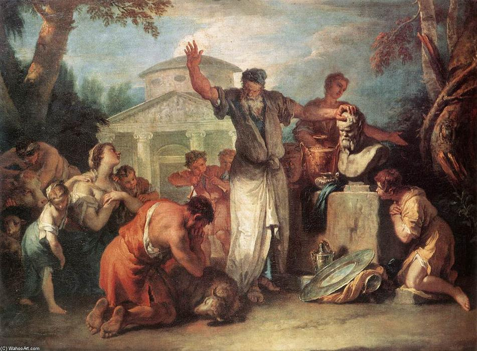 Sacrifice to Silenus, 1723 by Sebastiano Ricci (1659-1734, Italy) | Art Reproduction | WahooArt.com