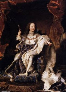 Hyacinthe Rigaud - State Portrait of Louis XV