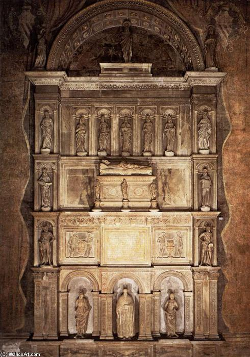 Order Art Reproduction : Monument of Niccolò Tron, 1476 by Antonio Rizzo (1430-1499, Italy) | WahooArt.com