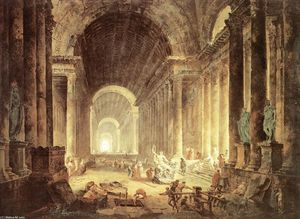 Hubert Robert - The Finding of the Laocoön