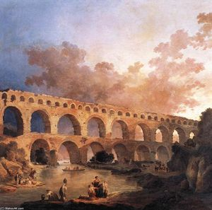 Hubert Robert - The Pont du Gard
