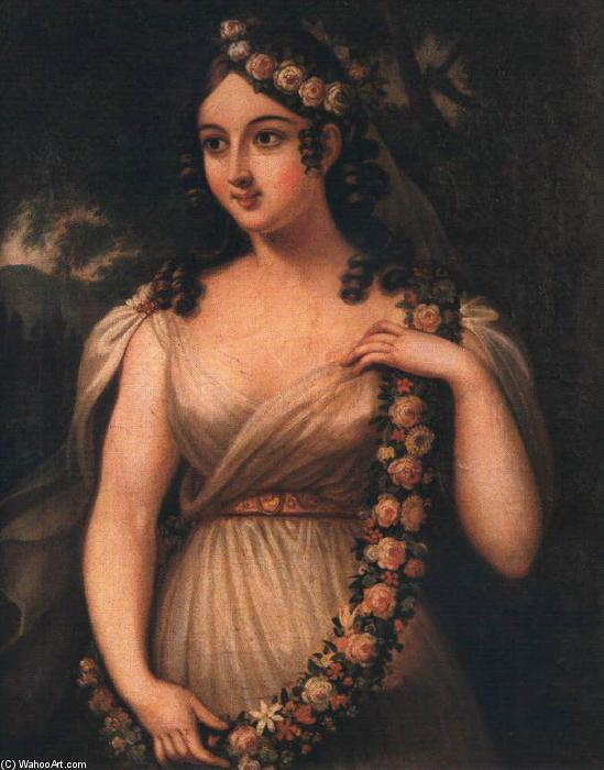 Spring (Flora, May), 1830 by Janos Rombauer | Oil Painting | WahooArt.com