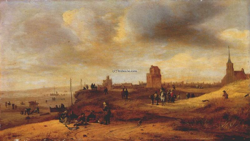 Order Museum Quality Copies | Coast at Scheveningen, 1680 by Salomon Rombouts (1655-1710, Netherlands) | WahooArt.com