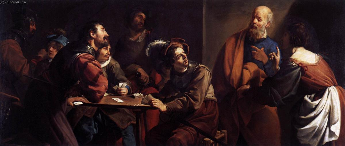 The Denial of St Peter, Oil On Canvas by Theodor Rombouts (1597-1637, Belgium)