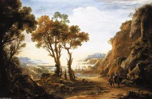 Salvator Rosa - Evening Landscape