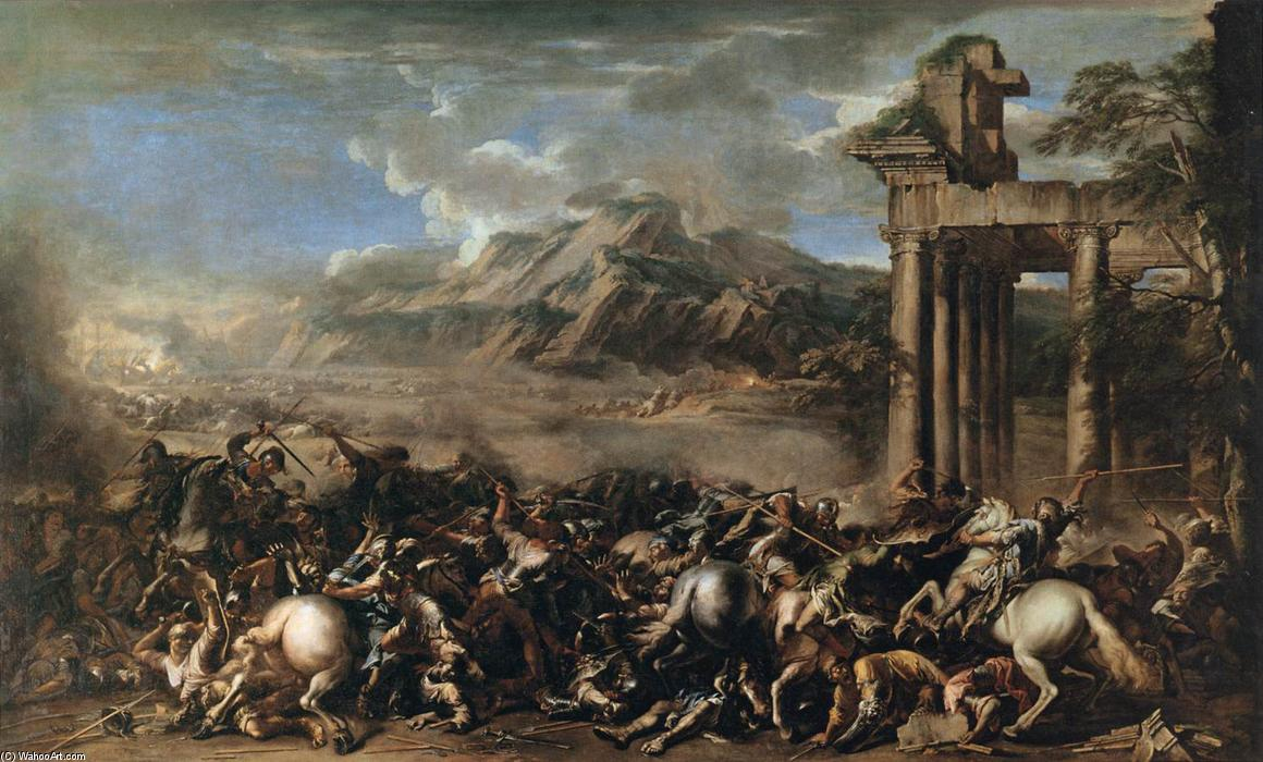Heroic Battle, 1652 by Salvator Rosa (1615-1673, Italy) | Painting Copy | WahooArt.com