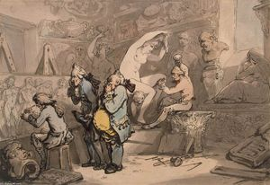 Thomas Rowlandson - Sculptor Shop