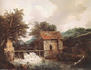 Jacob Isaakszoon Van Ruisdael (Ruysdael) - Two Watermills and an Open Sluice near Singraven