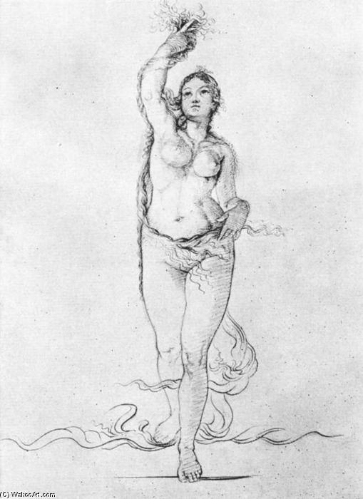 Study to the Morning, Drawing by Philipp Otto Runge (1777-1810, Germany)