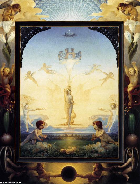 The Small Morning, Oil On Canvas by Philipp Otto Runge (1777-1810, Germany)