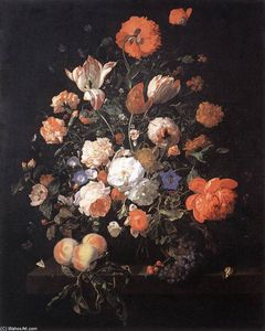 Rachel Ruysch - A Vase of Flowers