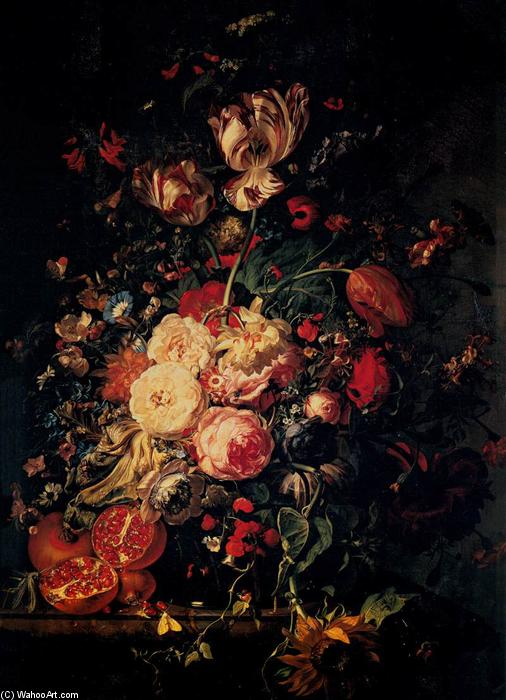 Still-Life with Flowers, 1716 by Rachel Ruysch (1664-1750, Netherlands) | Famous Paintings Reproductions | WahooArt.com