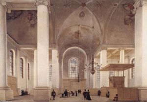 Pieter Jansz Saenredam - Interior of the Church of St Anne in Haarlem