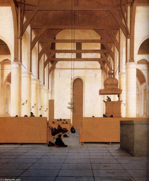 Interior of the Church of St Odulphus, Assendelft (detail), Oil On Panel by Pieter Jansz Saenredam (1597-1665, Netherlands)