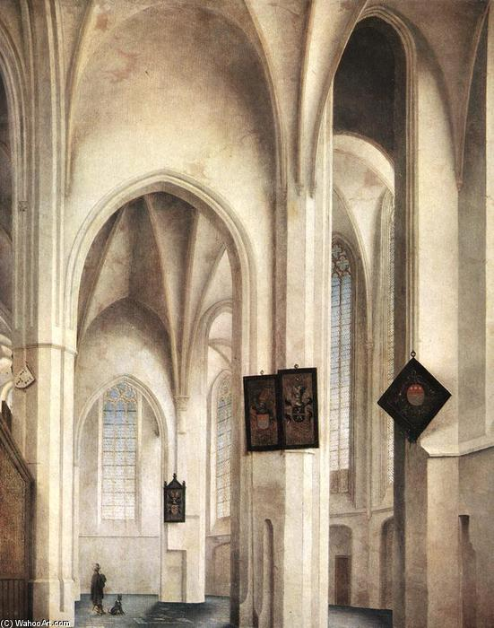 Interior of the St Jacob Church in Utrecht, Oil by Pieter Jansz Saenredam (1597-1665, Netherlands)