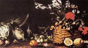 Tommaso Salini - Still-Life with Vegetable, Fruit, and Flowers