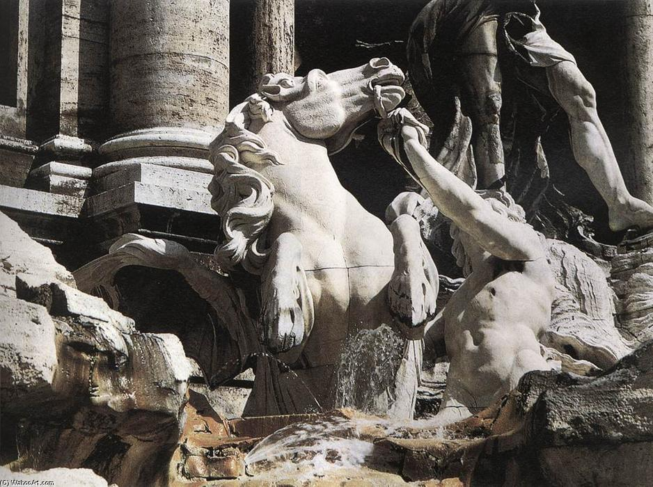 Fountain of Trevi (detail), Marble by Niccolò Salvi (1697-1751, Italy)