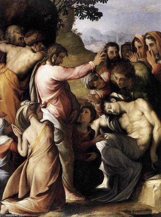 Raising of Lazarus, 1540 by Cecchino Del Salviati (1510-1563, Italy) | Painting Copy | WahooArt.com