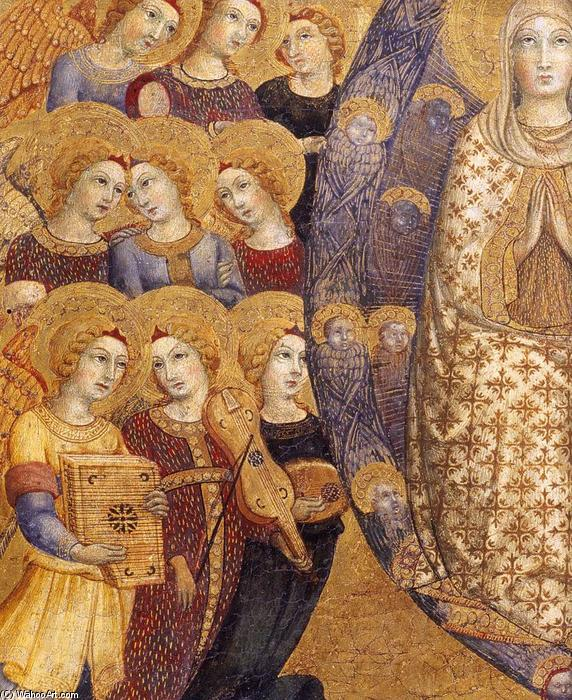 Assumption of the Virgin (detail), 1448 by Sano Di Pietro (1406-1481, Italy) | Art Reproductions Sano Di Pietro | WahooArt.com