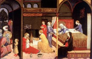 Sano Di Pietro - Birth of the Virgin